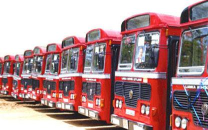 SLTB employees in Galle, Tangalle, Ambalanthota Bus Depots begin strike