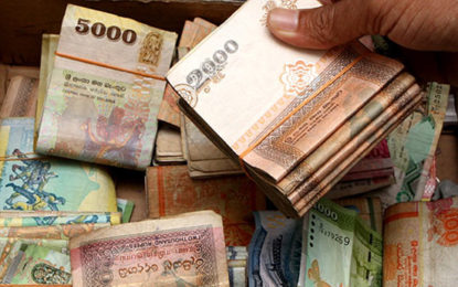 Sri Lanka rupee firms on dollar selling by exporters; stocks down