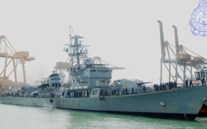 Two Bangladesh Navy Ships  Good Will  Visit to Colombo  Port