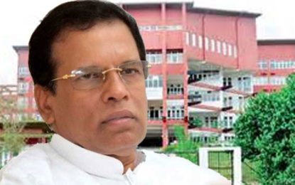 President to Discuss Controversial SAITM Issue Tomorrow