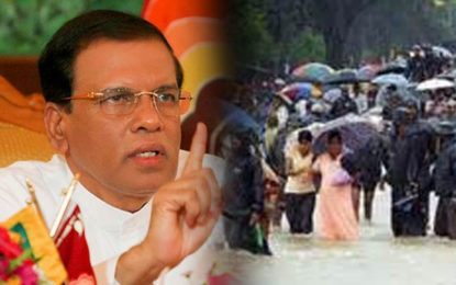 President Ordered  Ministers to Visit & Assist  Flood & Landslide Victims
