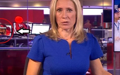 BBC Worker Spotted Watching A S*X Scene During A Live News Coverage