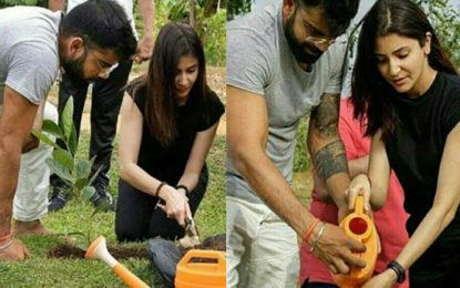 Virat Kohli and Anushka Sharma Go Environment Friendly In Sri Lanka