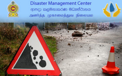Landslide Warning in Ratnapura & Matara