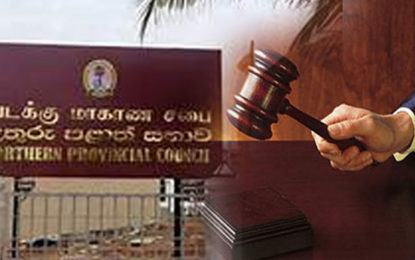 An Interim Injunction Filed  in Appeal Court  by NPC Deposed Minister Denishwaran