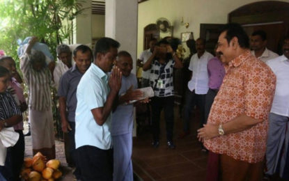 A Warm Welcome Extended by Mahinda to Kurunegala Farmers