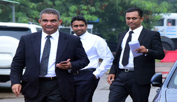 Arjun Aloysius  Arrived at the Presidential Commission