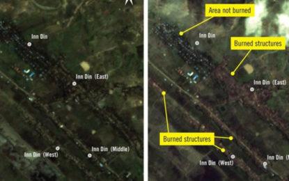 Rohingya Crisis: Satellite Images Of Myanmar Village Burning