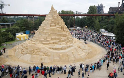 Sculptors Build 55feet Sandcastle in Germany to Claim World Record