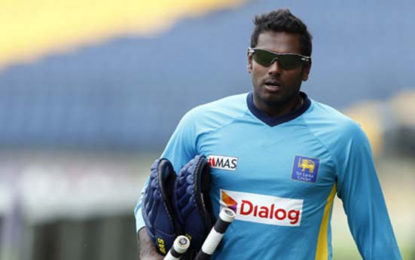Angelo Mathews Out As Sri Lanka Add Three New Faces For Pakistan Test