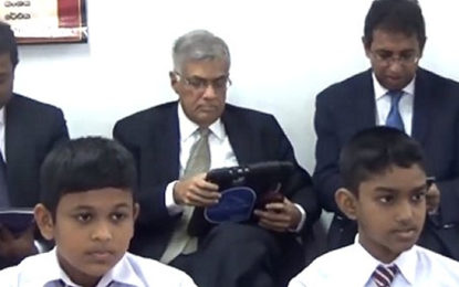 Sri Lanka Prime Minister plans to introduce  Smart Classroom in all country-wide schools .