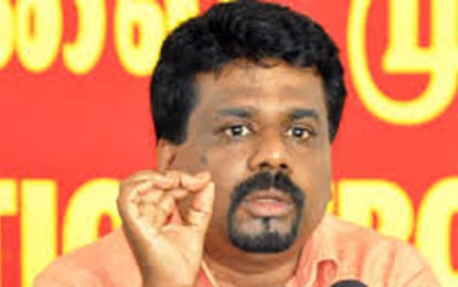 LG Elections in January too Doubtful? -JVP