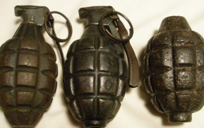 Three Hand Grenades Hidden Between Concrete Slabs  Recovered in Slave Island