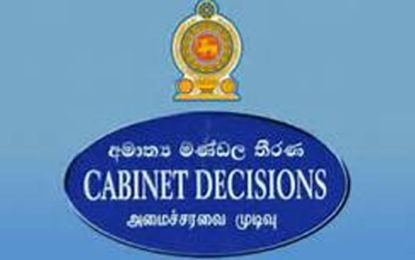 """Cabinet Approval to Introduce """" Signal Language """" Bill"""