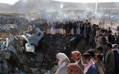 Yemen war: Saudi-led air strike 'kills 26 at Saada market'