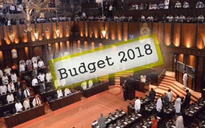 2018 Budget Speech Begin (UPDATE)