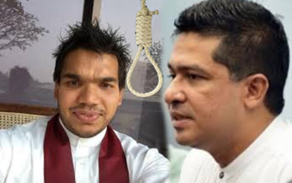 State Minister Sujeeva  advised Namal Rajapakshe  to make use  of his  Shawl and Hang?
