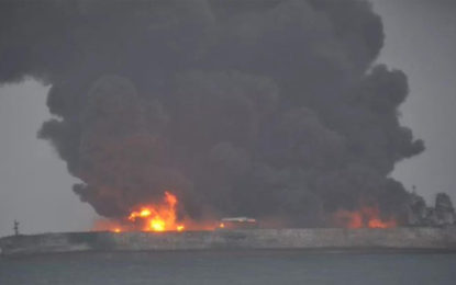 Burning Tanker Off Chinese Coast 'In Danger Of Exploding'