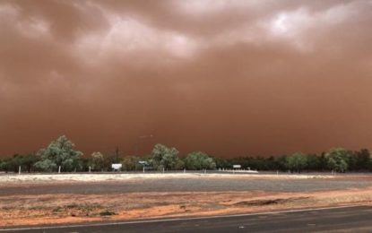 Dust Storm Blankets Australian Town in Orange