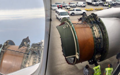 Engine Cover Blows Off on United Airlines Flight