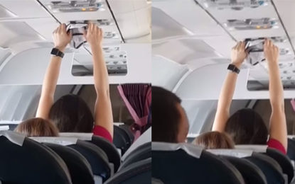 Woman Seen Drying Underwear On Air Vent During Packed Flight(Video)