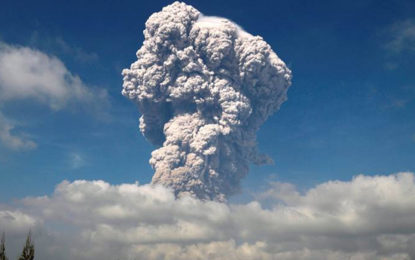 Indonesia's Mount Sinabung Volcano Erupts, Spewing Ash Cloud into the Air and Threatening Flights