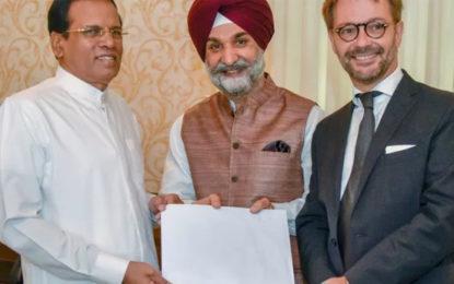 Indian PM Modi & French President Macron invite President Sirisena to Solar Alliance Conference