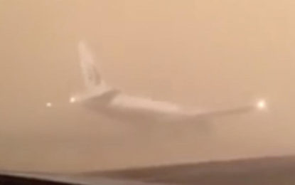 Saudi Authorities Deny Rumors Plane Landed On Busy Highway During Sandstorm