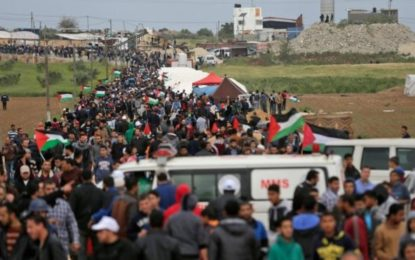 Shelling Kills Palestinian in Gaza as Border Protest Starts