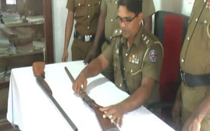 Detection of  Two Unlicensed Firearms in Possession of Army Deserter in Kalutara