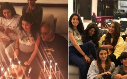 Janhvi Kapoor Cuts Birthday Cake With Sonam, Rhea, Khushi &Anshula