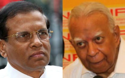 Special Discussion Between R. Sampanthan and The President