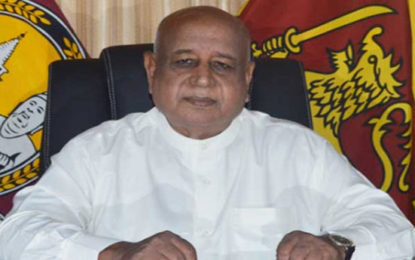 P.B. Dissanayake Appointed Central Province Governor Again