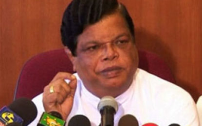 Bandula  Gunawardena Suggests Arjuna Mahendran is Behind Sri Lanka-Singapore FTA