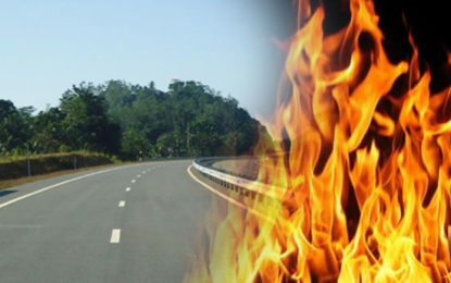 Fire in a Lorry on Southern Expressway