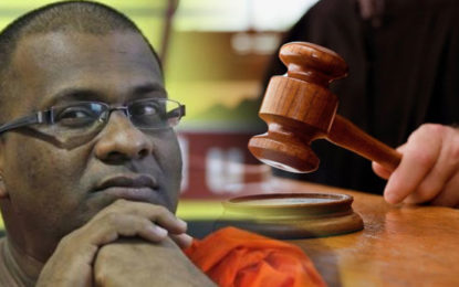 BBS Gnanasara Thera Before the Court Again In Connection With the Robbery of Golden Chain.