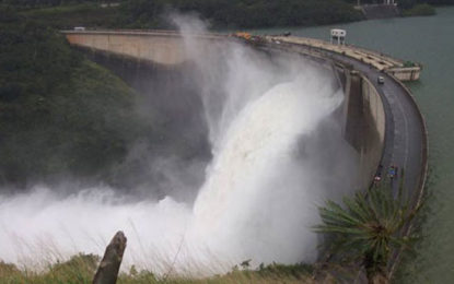 Wimalasurendra Reservoir Spills Over