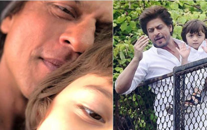 Shah Rukh Khan Shares Photo with Abram as He Wishes Eid Mubarak.