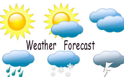 Weather Forecast for 30th June 2018