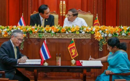 Sri Lanka and Thailand to boost trade and technical cooperation