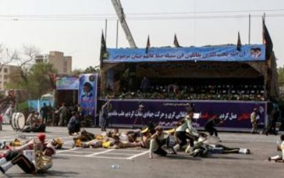 24 killed in attack on Iranian military parade