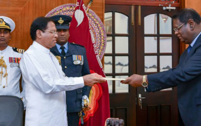 Supreme Court Judge Nalin Perera sworn in as new Chief Justice