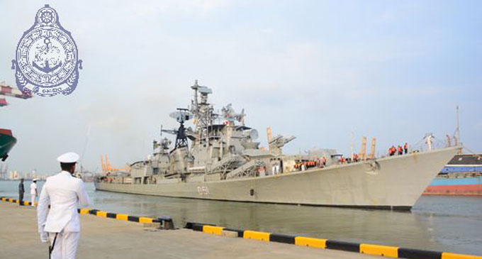 Indian Naval Ship sets sail from Colombo Harbour