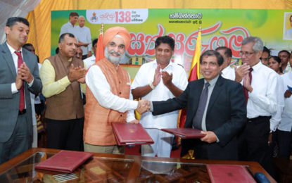 India assists in developing 50 additional model villages across Sri Lanka