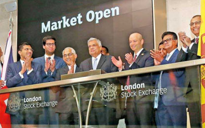 London Stock Exchange to support Sri Lanka's investments and infrastructure