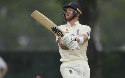 Ben Stokes retires hurt in England's tour match