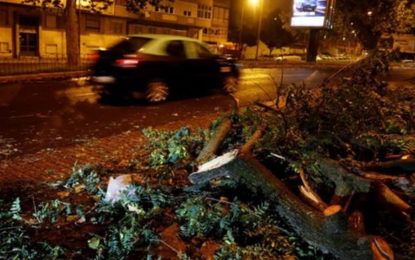 Storm Leslie: Portugal hit by hurricane-force winds