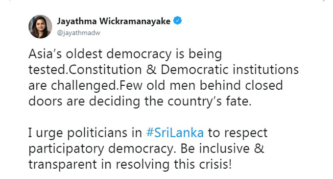 """""""Sri Lanka's fate being decided by old men behind closed doors"""" – UN Youth Envoy"""