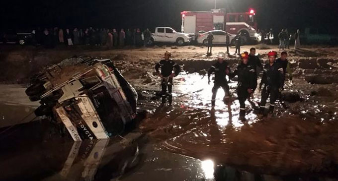 Jordan hit by deadly flash floods