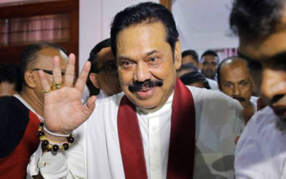 Rajapaksa assumes duties at Opposition Leader's Office